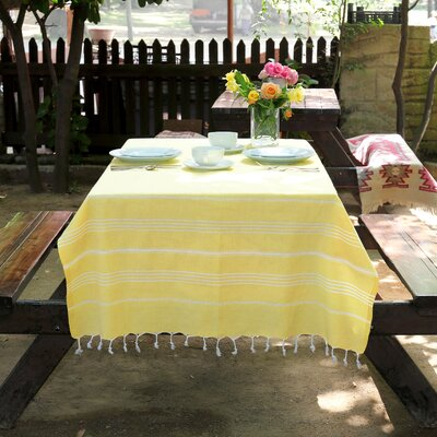 100% Turkish Cotton Pestemal/Fouta Beach Towel Color: Sunshine Yellow