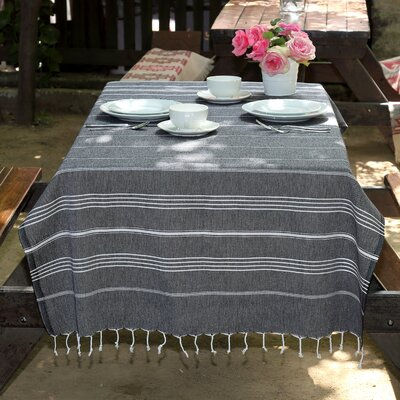 100% Turkish Cotton Pestemal/Fouta Beach Towel Color: Black