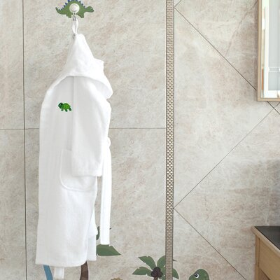 Hooded Terry Bathrobe Size: Small, Color: Soft White