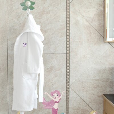 2 Piece Hooded Terry Bathrobe and Hand Towel Set Size: Medium, Color: Soft White