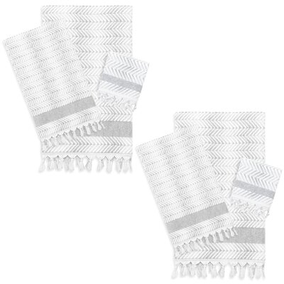 Assos 6 Piece Towel Set Color: Dove Gray