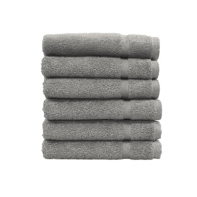 Denzi Washcloth Set Color: Dark Gray