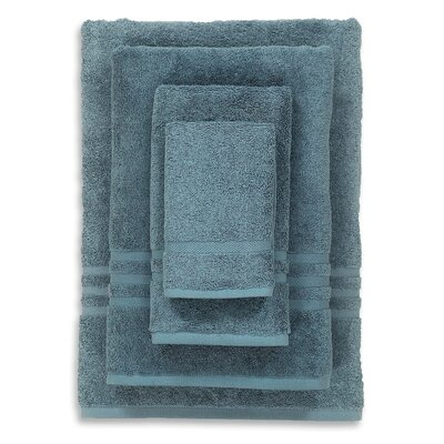 Denzi 4 Piece Towel Set Color: Blue