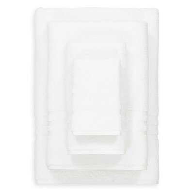 Denzi 4 Piece Towel Set Color: White