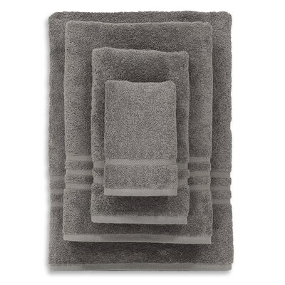 Denzi 4 Piece Towel Set Color: Dark Gray