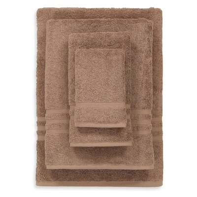 Denzi 4 Piece Towel Set Color: Latte
