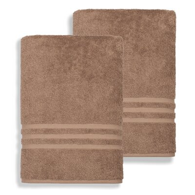 Denzi Bath Sheet Color: Latte