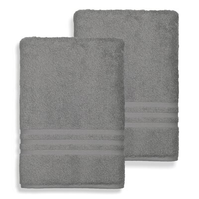 Denzi Bath Sheet Color: Dark Gray