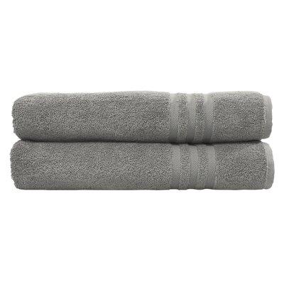 Denzi Bath Towel Set Color: Dark Gray