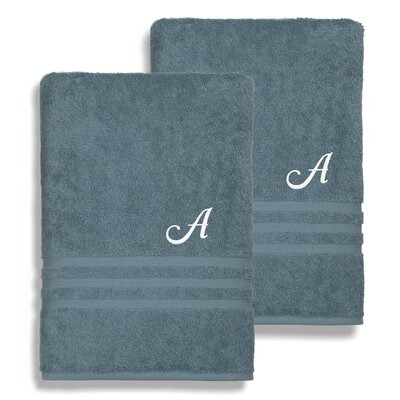 Denzi Monogrammed Bath Sheet