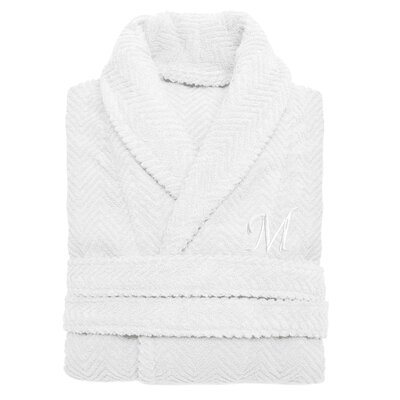 Herringbone Weave Unisex Bathrobe