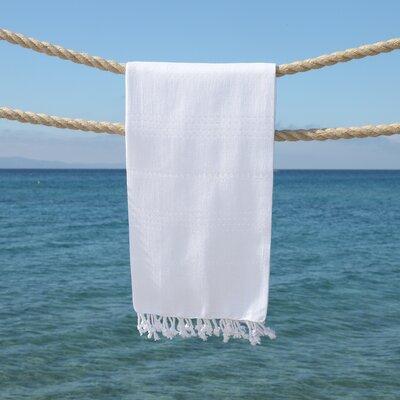 Summer Fun Pestemal Beach Towel Color: White