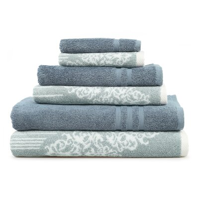 Gioia-Denzi 6 Piece Towel Set Color: Soft Aqua/Denzi Blue