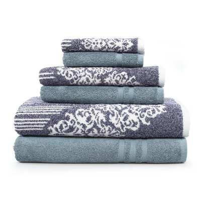 Gioia-Denzi 6 Piece Towel Set Color: Ocean Blue/Denzi Blue