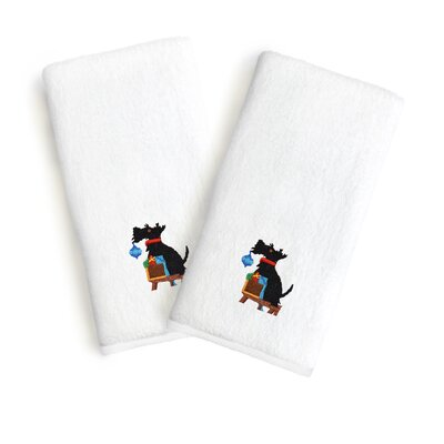 Holiday Embroidered Luxury 100% Cotton Hand Towel