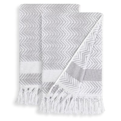 Scarlett Bath Towel Color: Dove Gray