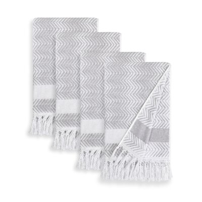 Scarlett Hand Towel Color: Dove Gray