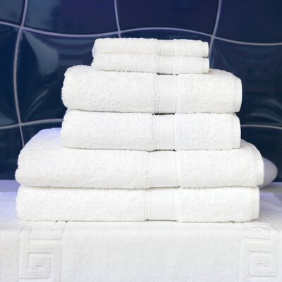 Linum Home Textiles Seven Piece Terry Towel Set in Pure White at Sears.com