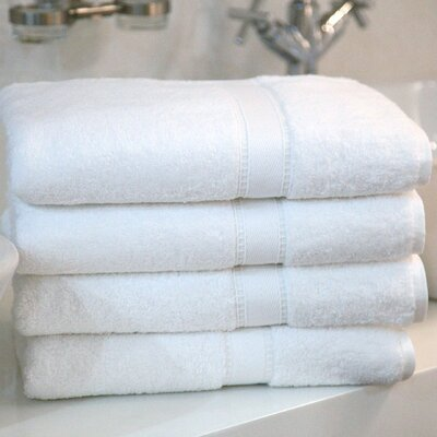 Linum Home Textiles Four Piece Terry Bath Towel Set in Pure White at Sears.com