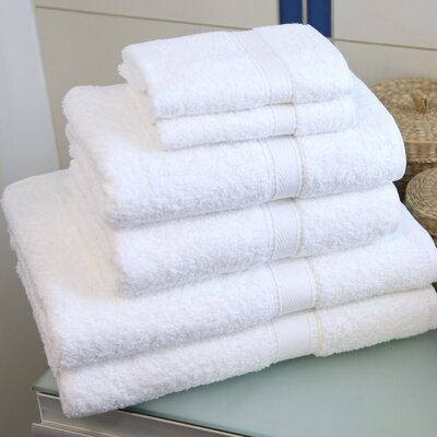 Linum Home Textiles Six Piece Terry Towel Set in Pure White at Sears.com