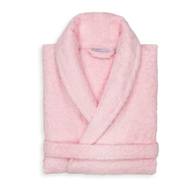 Roman 100% Cotton Bathrobe Color: Pink, Size: Large