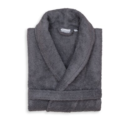 Roman 100% Cotton Bathrobe Color: Gray, Size: Small/Medium