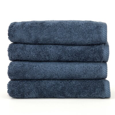 Soft Twist 100% Turkish Cotton Hand Towel Color: Blue