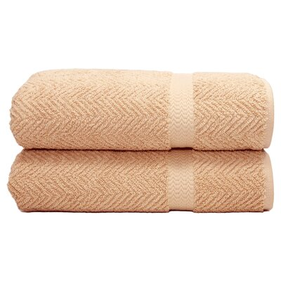 Herringbone Bath Towel Color: Warm Sand