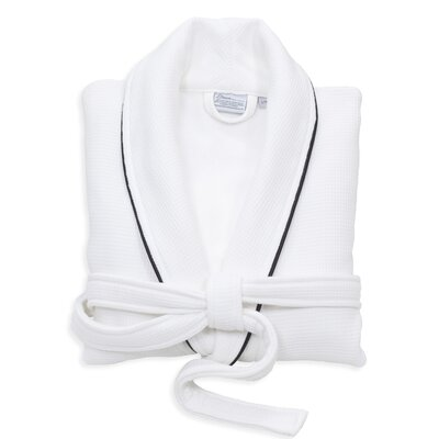 Gautier 100% Turkish Cotton Waffle Terry Bathrobe Size: Large, Color: White