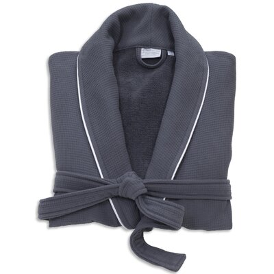 Gautier 100% Turkish Cotton Waffle Terry Bathrobe Color: Dark Gray, Size: Large
