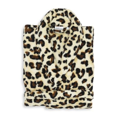 Gauthier Super Plush Luxurious Soft Leopard Print Bathrobe Size: Small