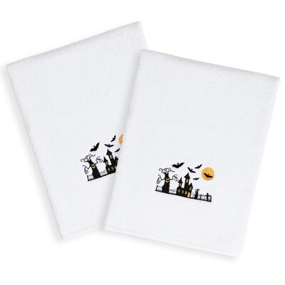 Scary Embroidered Luxury 100% Turkish Cotton Hand Towel