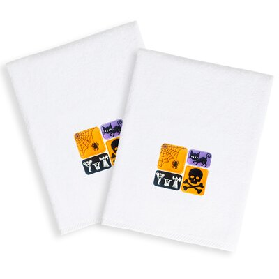 Spooky Embroidered Luxury 100% Turkish Cotton Hand Towel