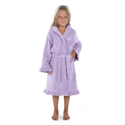 Crain 100% Turkish Cotton Hooded Bathrobe Size: Small, Color: Purple
