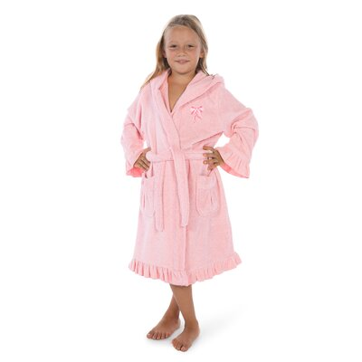 Crain 100% Turkish Cotton Hooded Bathrobe Size: Small, Color: Pretty Pink