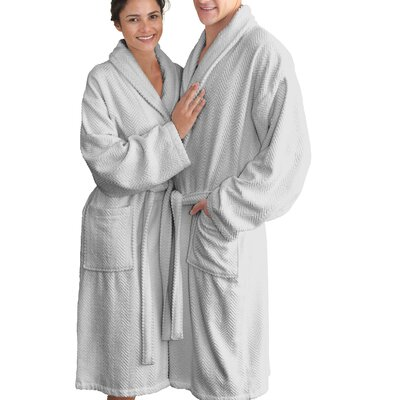 Huguetta Weave 100% Cotton Unisex Bathrobe Size: Small/Medium