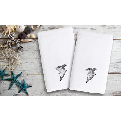 Constantia Kids Embroidered Luxury Shark Hand Towel