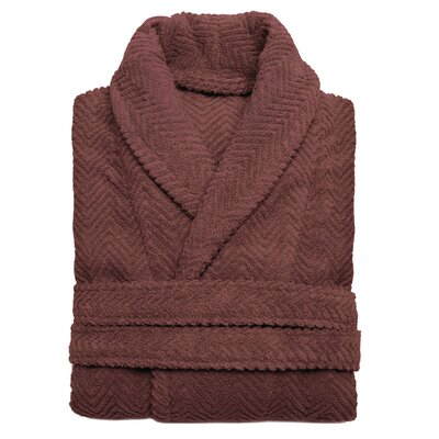 Huguetta Weave 100% Turkish Cotton Unisex Bathrobe Size: Small / Medium, Color: Sugar Plum
