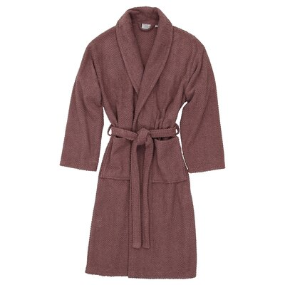 Herringbone Bath Robe Size: Large / X-Large, Color: Sugar Plum