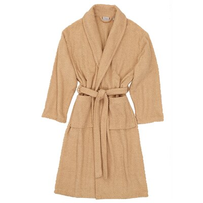 Herringbone Bath Robe Size: Large / X-Large, Color: Warm Sand