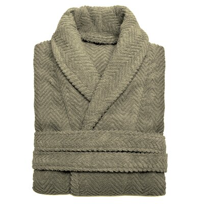 Huguetta Weave 100% Turkish Cotton Unisex Bathrobe Size: Small / Medium, Color: Light Olive