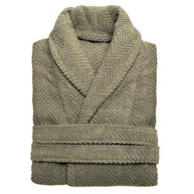 Huguetta Weave 100% Turkish Cotton Unisex Bathrobe Size: Small / Medium, Color: Light Olive