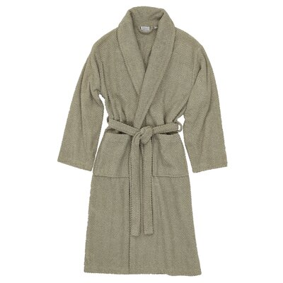 Herringbone Bath Robe Size: Small / Medium, Color: Light Olive