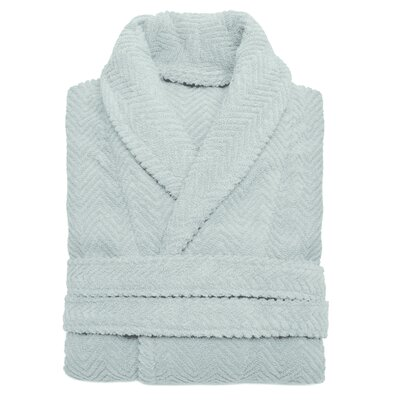 Huguetta Weave 100% Turkish Cotton Unisex Bathrobe Size: Large / Extra Large, Color: Soft Aqua