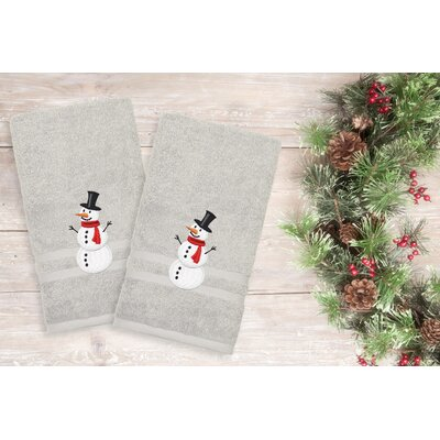 Snowman Hand Towel Color: Gray