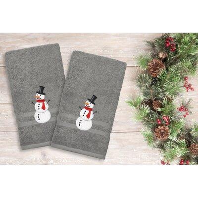 Snowman Hand Towel Color: Dark Gray