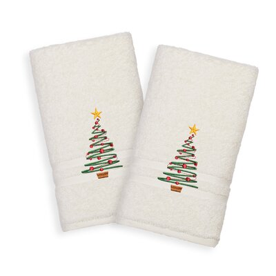 Holiday Hand Towel Color: Cream