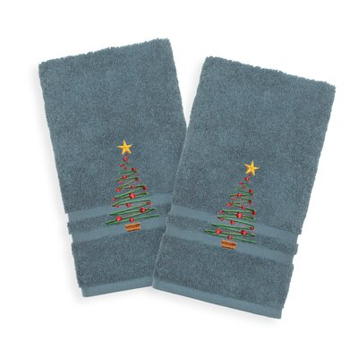 Holiday Hand Towel Color: Denzi Blue