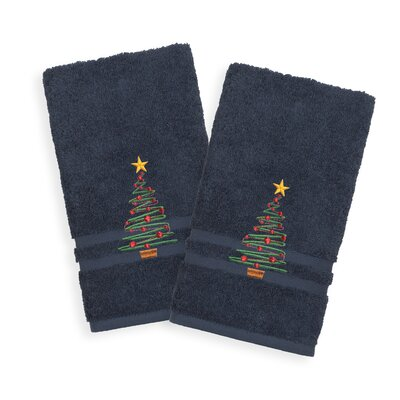 Holiday Hand Towel Color: Twilight Blue