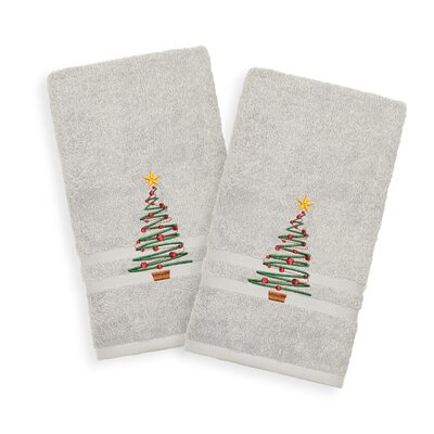 Holiday Hand Towel Color: Gray